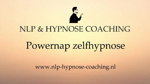Powernap zelfhypnose